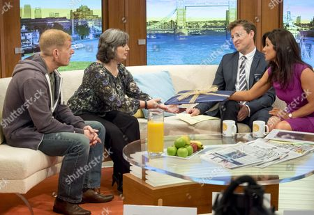 Stuart and Sam Baker with Ben Shephard and Susanna Reid