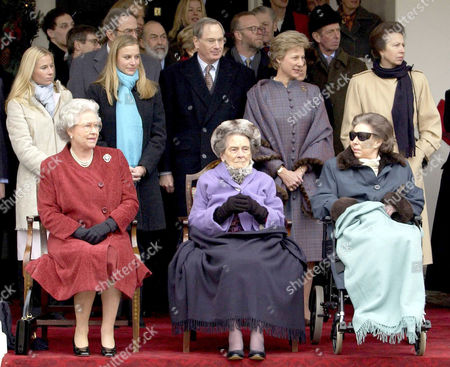 Queen Elizabeth II and Princess Margaret (r) joined her aunt, Princess Alice (c) at Kensington Palace for a party to honour Princess Alice's forthcoming 100th birthday in December 2001. It was a rare public appearance for the Princess who, as she approached her 100th birthday on Christmas Day, was frail but in good spirits. It was announced that the Princess died peacefully in her sleep on the night of Friday October 29 2004 at the grand old age of 102