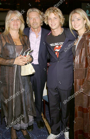 JOAN BRANSON WITH HUSBAND SIR RICHARD, SON SAM AND DAUGHTER HOLLY
