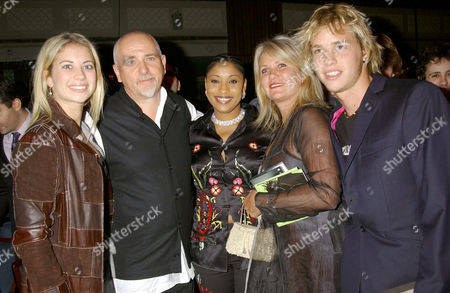JOAN BRANSON, PETER GABRIEL, WIFE OF YOUSSOU N'DOUR, HOLLY AND SAM BRANSON