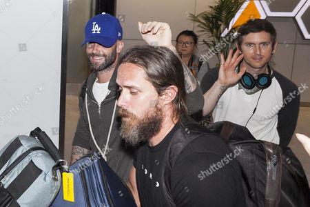 Editorial photo of Maroon 5 at Narita International Airport, Japan - 01 Sep 2015