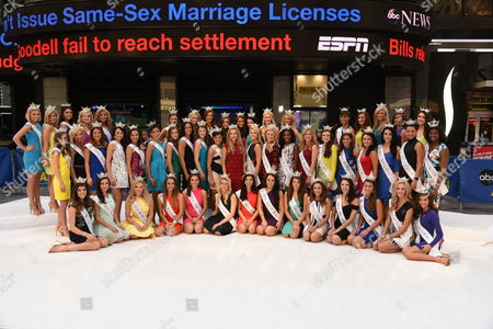 In celebration of the upcoming Miss America Competition (9/13), reigning Miss America, NY's own Kira Kazantsev, and the 52 contestants competing for the 2016 title.