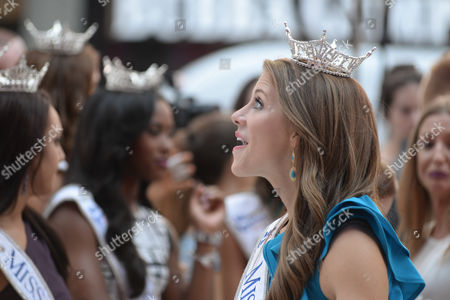 In celebration of the upcoming Miss America Competition (9/13), reigning Miss America, NY's own Kira Kazantsev, and the 52 contestants competing for the 2016 title take over Times Square.