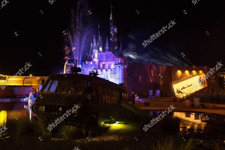 Editorial picture of DJ Yoda in Concert at Banksy's Dismaland, Weston-super-Mare, Britain - 29 Aug 2015