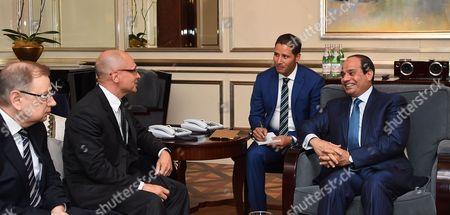 "Egyptian President, Abdel Fattah al-Sisi meets with the head of ""Rosatom"" Sergei Kiriyenko"