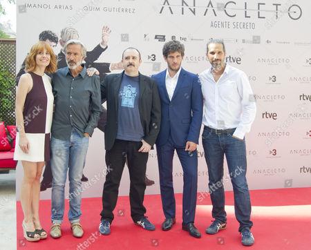 From Left: Alexandra Jimenez, Imanol Arias, Carlos Areces, Quim Gutierrez and spanish director Javier Ruiz Caldera