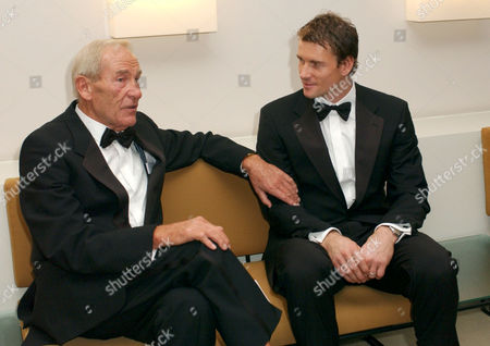 BERT TRAUTMANN AND JENS LEHMANN AT A GALA CONCERT AT THE BERLIN PHILHARMONIC HALL