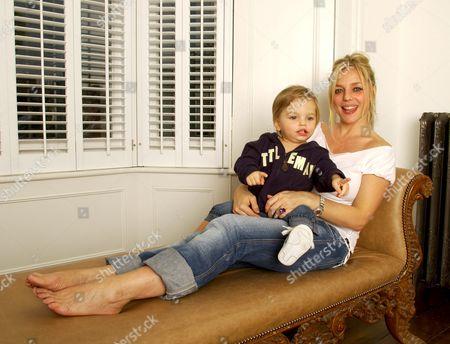 Suzanne Mizzi with her son Geo