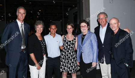 Stock Photo of Todd Martin, Virginia Wade, Christopher Rodriguez, Heather Lubov