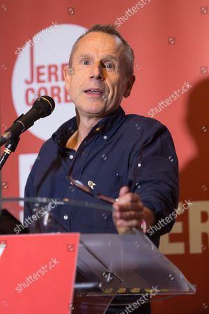 Jeremy Hardy speaking in support of Jeremy Corbyn