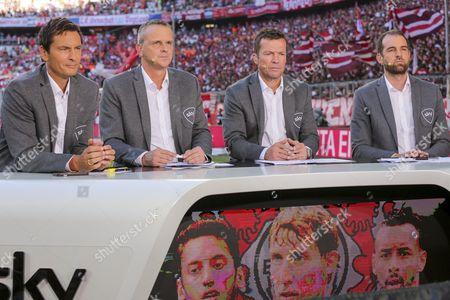 Sky pundits, Sebastian Hellmann, Didi Dietmar Hamann, Lothar Matthaeus, Christoph Metzelder all wearing matching blazers