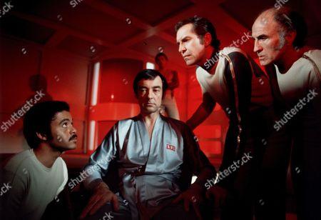 Anton Phillips, Richard Johnson, Martin Landau and Barry Morse