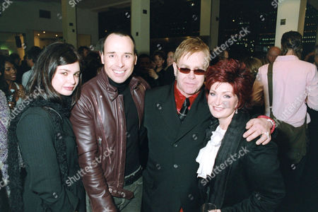 Aimee Osbourne, David Furnish, Elton John and Sharon Osbourne