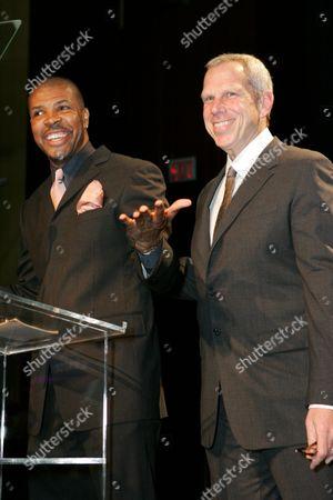 Stock Photo of Eriq LaSalle and Steve Tisch