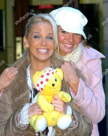 Sarah Harding and Nadine Coyle promoting their single 'I'll Stand By You' the official song for Children in Need
