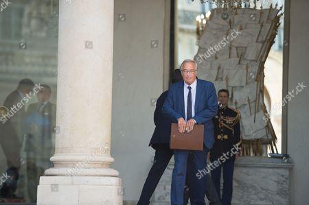 Francois Rebsamen at the French government weekly cabinet at Elysee palace.
