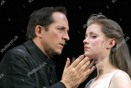 Michael Maloney and Laura Rees in 'Hamlet' at the Barbican Theatre, London, Britain