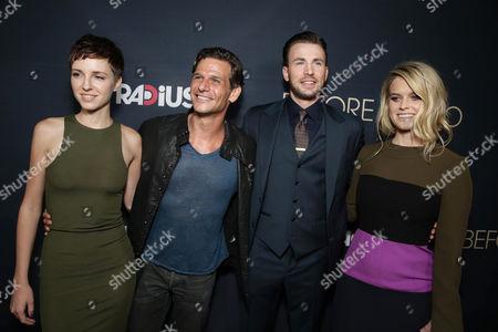 Stock Photo of Emma Fitzpatrick, Mark Kassen, Chris Evans, Alice Eve