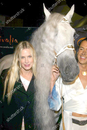 Daryl Hannah and Templado the horse with Frederic Pignon