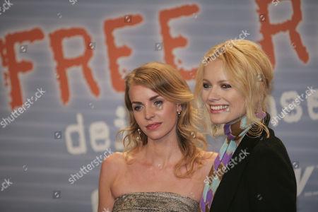 Simone Hanselmann and Franziska Knuppe, opening night of the movie ''Free Rainer - dein Fernseher luegt'' by director Hans Weingartner, 03.11.2007, cinema of the Kulturbrauerei, Berlin, Germany