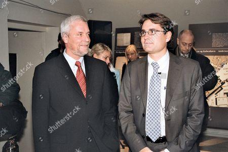 Lord Mayor of Odensen Boye Nielsen and Danish minister for culture Brian Mikkelsen