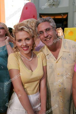 Scarlett Johansson and Executive Producer Albie Hecht