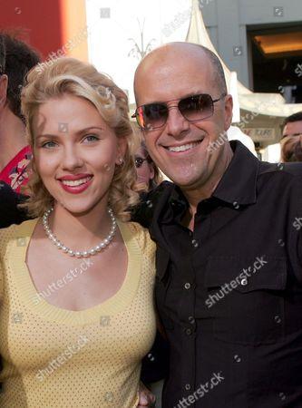 Scarlett Johansson and Paramount's Donald DeLine