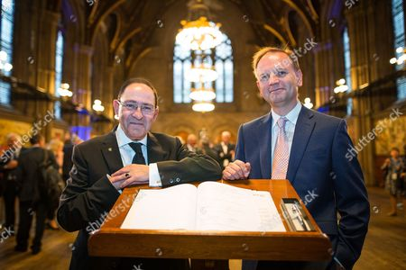 Stock Photo of Sir Howard Bernstein and NHS England's Simon Stevens