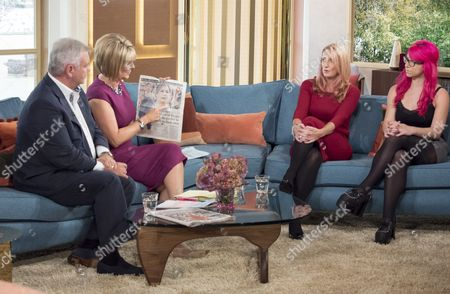 Eamonn Holmes and Ruth Langsford with Alison Phillips and Nadia Mendoza