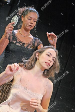 'Othello' - Cheek by Jowl at the Riverside Studios . Caroline Martin and Jaye Griffiths