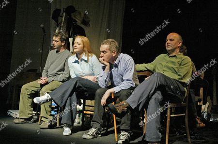 Phelim McDermott, Stella Duffy, Jim Sweeney, Guy Dartnell, 'Lifegame', Cottesloe Theatre