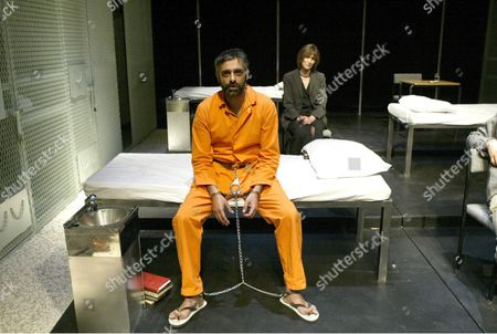 Jan Chappell, Paul Bhattacharjee, 'Guantanamo', Tricycle Theatre