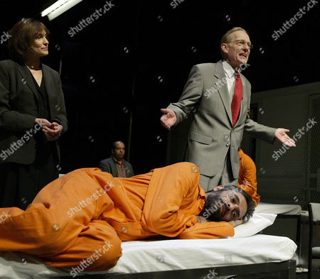 Jan Chappell, Paul Bhattacharjee, William Hoyland, 'Guantanamo', Tricycle Theatre
