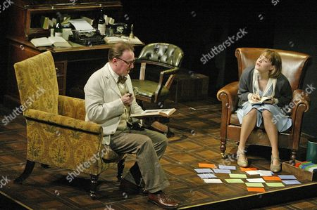 Dermot Crowley (James Joyce), Romola Garai (Lucia), 'Calico', Duke of Yorks Theatre