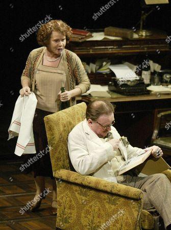 Imelda Staunton (Nora), Dermot Crowley (James Joyce), 'Calico', Duke of Yorks Theatre