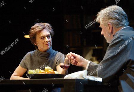 Stock Image of Francesca Annis (Rosa), Nicholas Le Prevost (Eric), Blood, Royal Court Theatre.