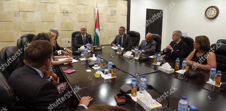 Editorial picture of Rami Hamdallah meets with British Minister for International Development Desmond Swayne, Ramallah, Palestinian Territory - 03 Sep 2015