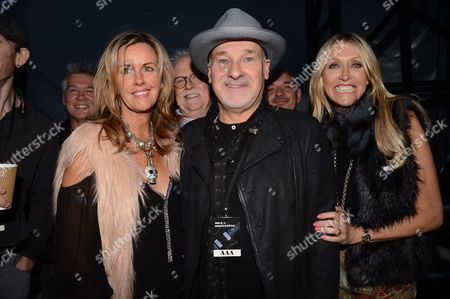 Stock Picture of Paul Carrack with Zoe Nicholas and Susie Webb