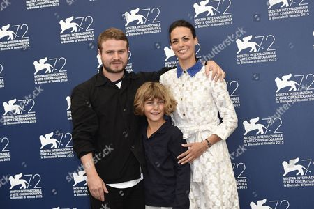 The director Brady Corbet with Berenice Bejo and Tom Sweet
