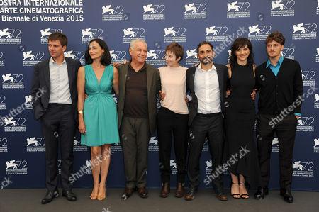 Stock Photo of Juliette Binoche, Lou de Laage, Giorgio Colangeli, Piero Messina, Antonio Folletto