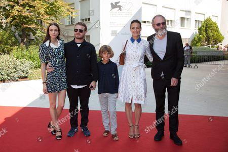 Stacy Martin, Liam Cunningham, director Brady Corbet, Tom Sweet and Berenice Bejo