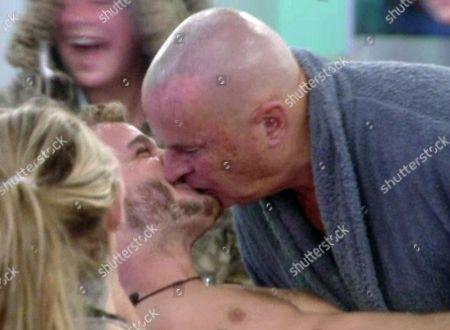 Chris Ellison kisses Austin Armacost