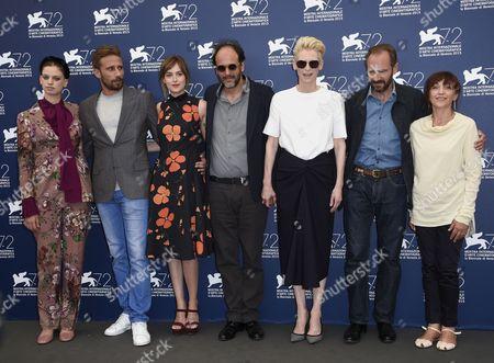 Luca Guadagnino, Matthias Schoenaerts, Dakota Johnson, Tilda Swinton, Ralph Fiennes, Lily McMenamy
