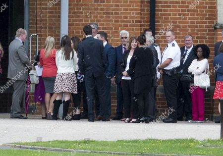 Max Clifford Attending The Funeral Of His Late Brother Bernie At Crematorium In Morden. 18.08.14.