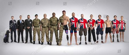 Invictus Games L/r Jon Flint And Varick His Canine Partner Paul Wilson Don Maclean Luke Darlington Carolyne Dufley Derek Derenalagi Craig Gadd (center) Jj Chalmers Clive Smith Lee Matthews Josh Bogg Lewis Edwards Vinod Budhathoki And Mary Wilson.
