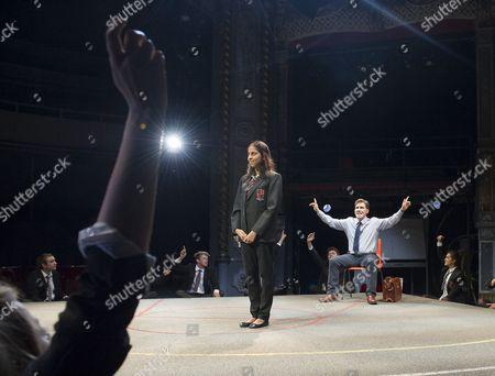 Stock Picture of Nikki Patel as Alia, Rob Brydon as Crane,