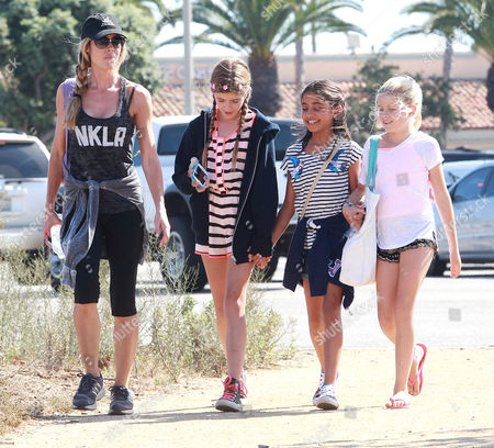 Denise Richards, Sam Sheen, Lola Rose Sheen and friends