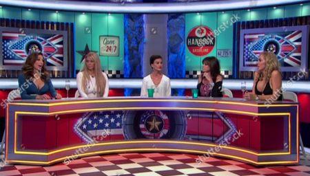 Farrah Abraham argues with Aisleyne Horgan-Wallace alongside Jenna Jameson, Janice Dickinson and Vicki Michelle