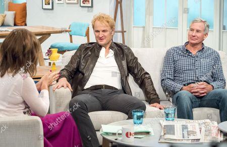 Lorraine Kelly with Jason Clarke and David Breashears