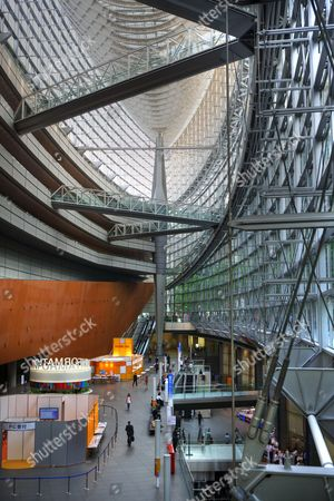Tokyo International Froum by architect Rafael Vinoly, convention center, Tokyo, Japan, Asia